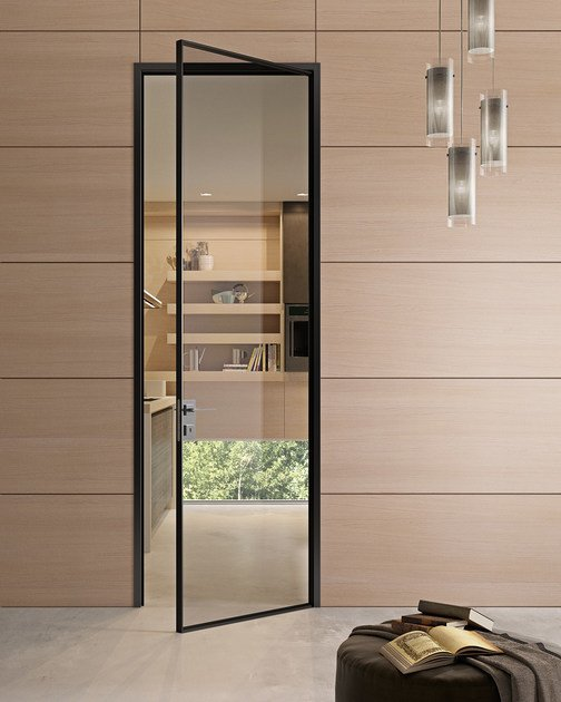 Hinged glass and aluminium door G-LIKE | Hinged door Modern Collection By GIDEA & Hinged glass and aluminium door G-LIKE | Hinged door Modern ...