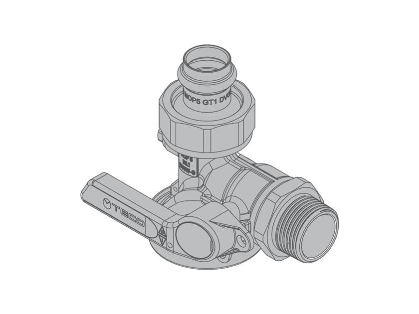 Valvola a squadra per contatore gas monotubo G6 Valvola a 90° by TECO