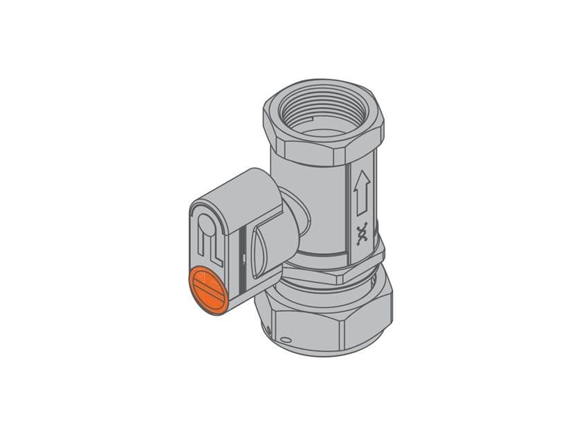 Valvola con dado girevole per contatore gas bitubo G2 PA Valvola dritta f/dado girevole by TECO