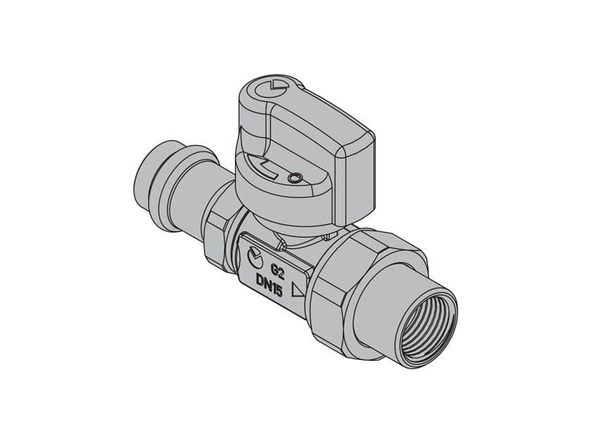 Valvole per apparecchi gas G2 Valvola dritta FIREBAG® a pressare by TECO
