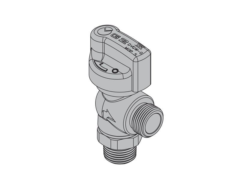 Valvole per apparecchi gas con tubi flessibili G2 Valvola 90° con FIREBAG® filettata by TECO