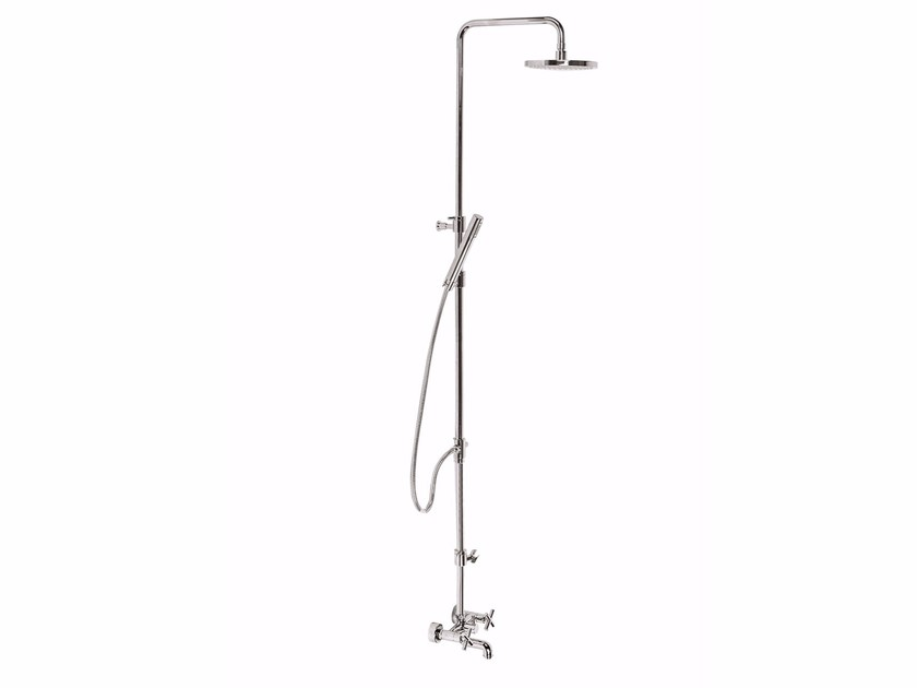 Wall-mounted shower panel with overhead shower G3 - F7600WC-S by Rubinetteria Giulini