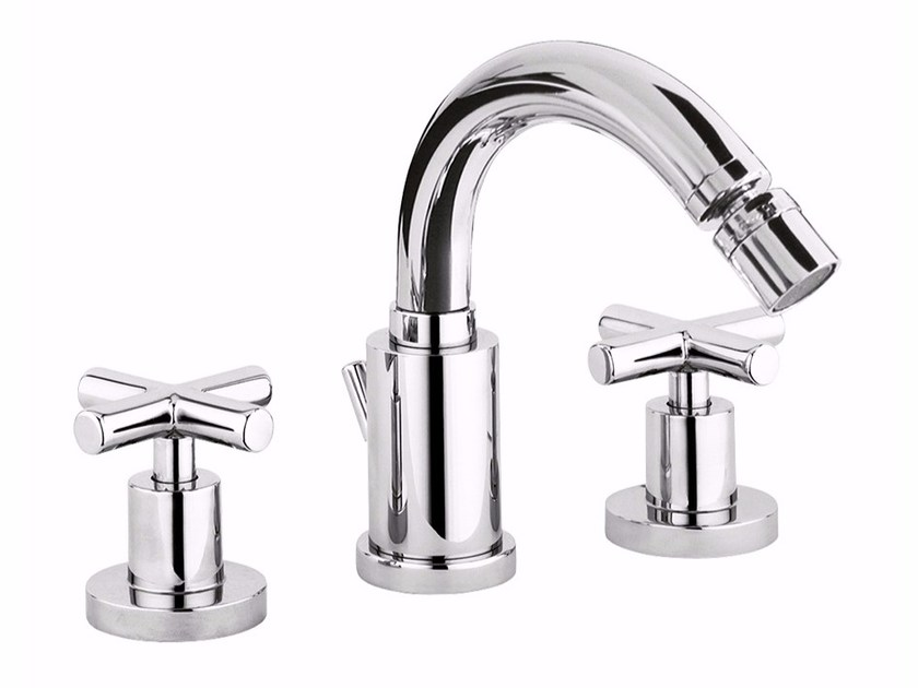3 hole countertop bidet tap with swivel spout G3 - F7645A by Rubinetteria Giulini