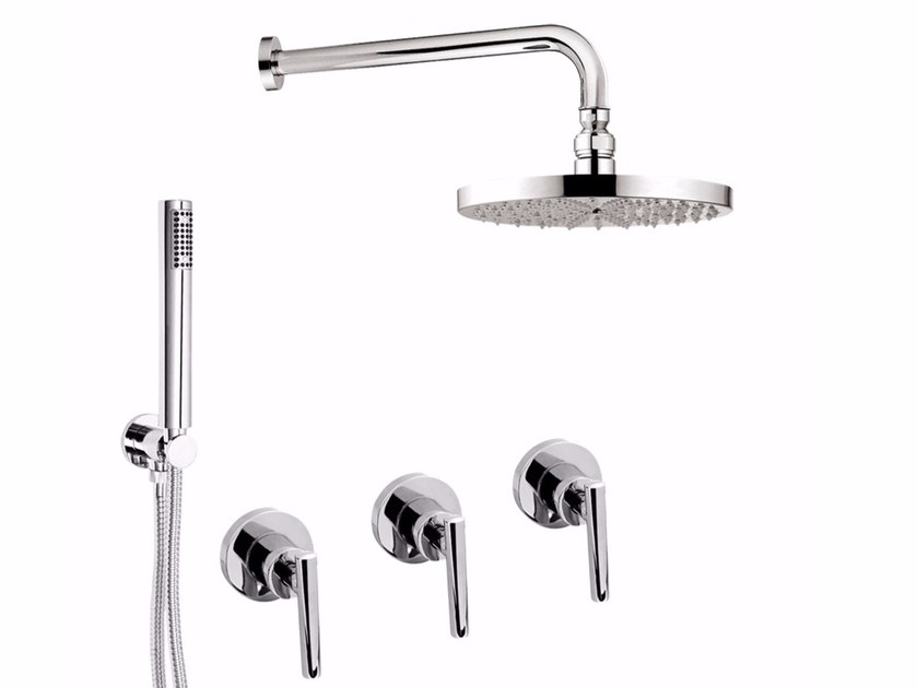 Shower tap with hand shower with overhead shower G4 - F7715W2KS by Rubinetteria Giulini