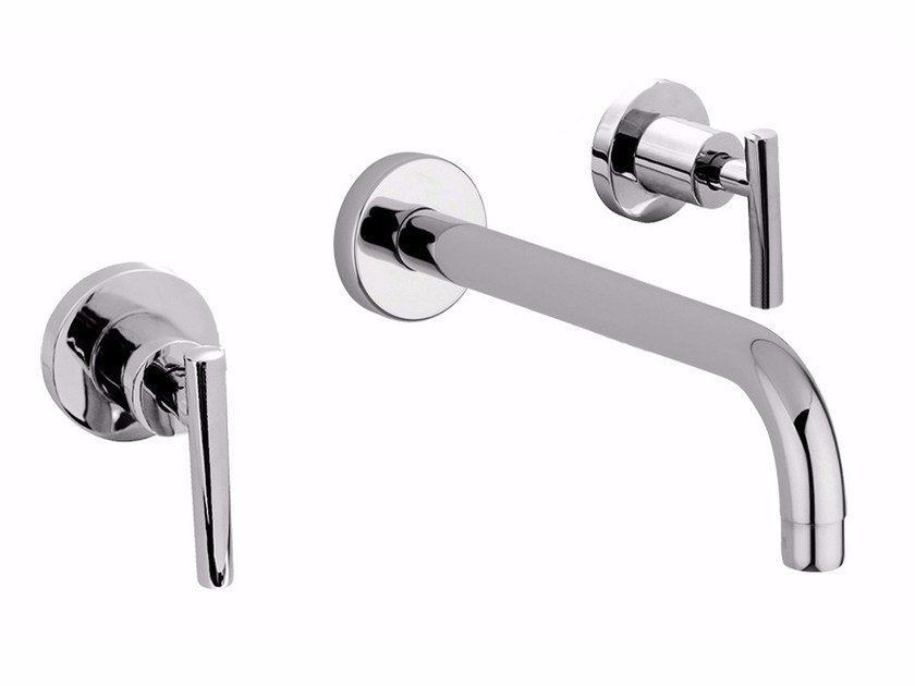 3 hole wall-mounted washbasin tap without waste G4 - F7720 by Rubinetteria Giulini