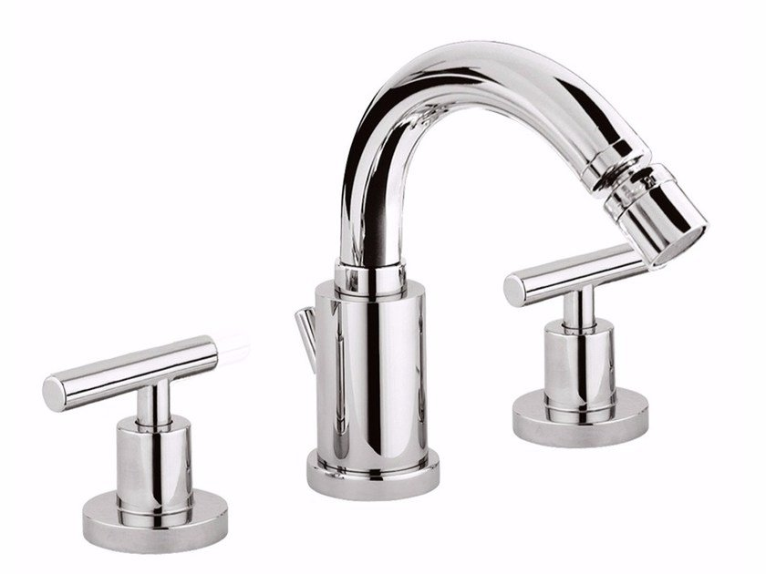 3 hole countertop bidet tap with swivel spout G4 - F7745A by Rubinetteria Giulini