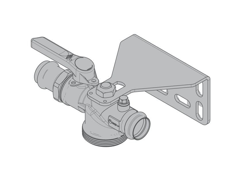 Straight valve for single-pipe gas meter G6 Straight single-piece valve by TECO
