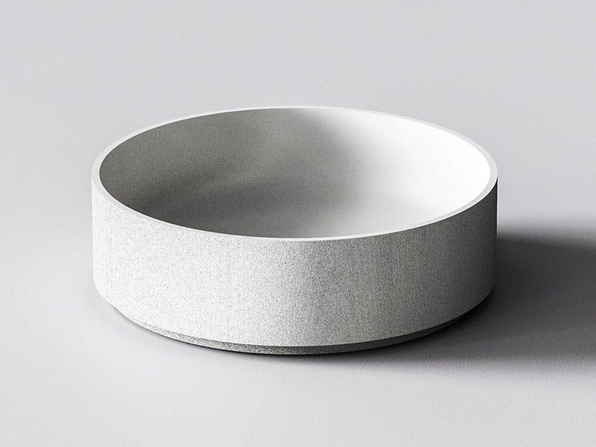 3D printed quartz sand washbasin GAIA by Sandhelden