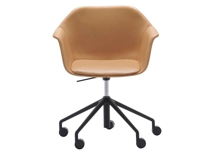 Drehbarer 5-Speichen- Bürostuhl mit Rollen GALA SO0722 by Andreu World