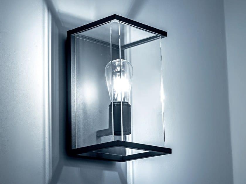 Lampada da parete per esterno a led a luce diretta galact by