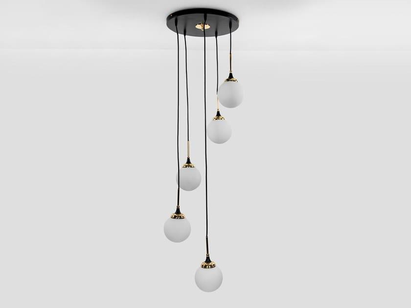 Glass pendant lamp GALASSIA - S5050 | Pendant lamp by Stilnovo