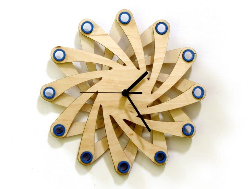 Orologio in compensato da parete GALAXY by ardeola