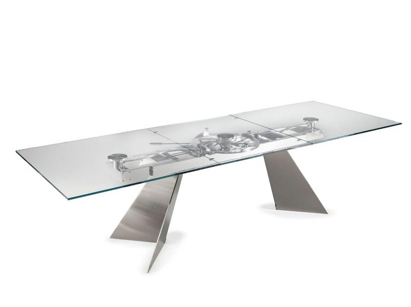 Galax Tavolo In Cristallo By Naos Design Studio D Urbino Lomazzi
