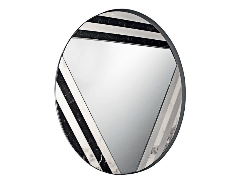 Wall-mounted marble mirror GALDOR by Visionnaire