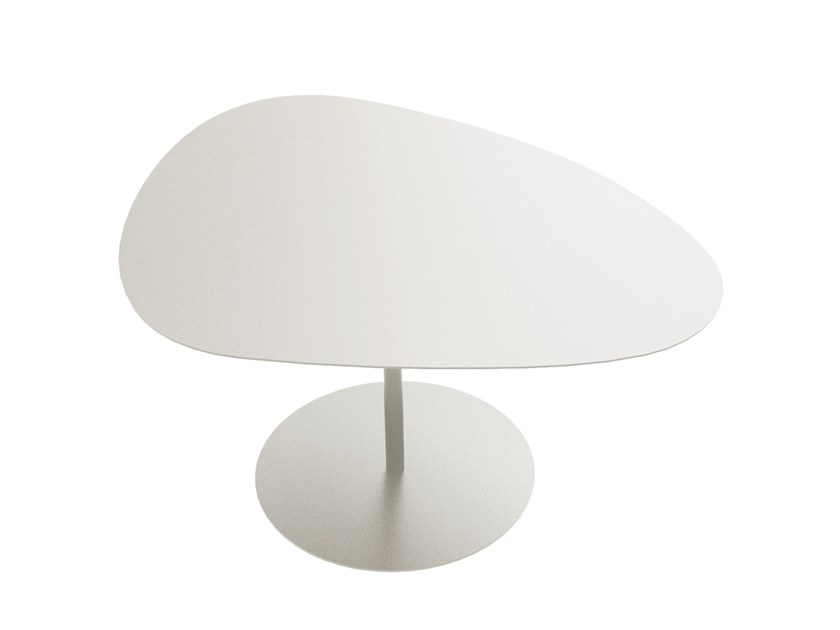 Powder coated steel coffee table GALET N°2 | Coffee table by Matière Grise