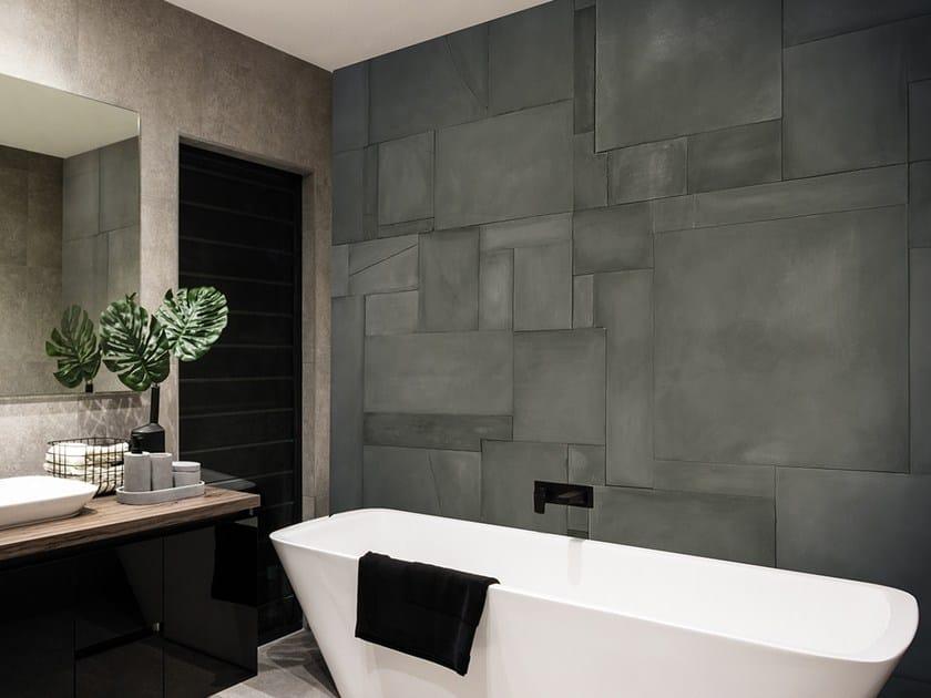 Vinyl wallpaper with concrete effect GALLERY by Adriani e Rossi edizioni