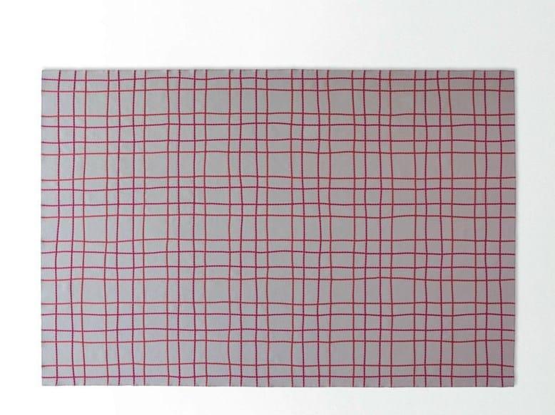 Rectangular striped custom rug GALLES by paola lenti