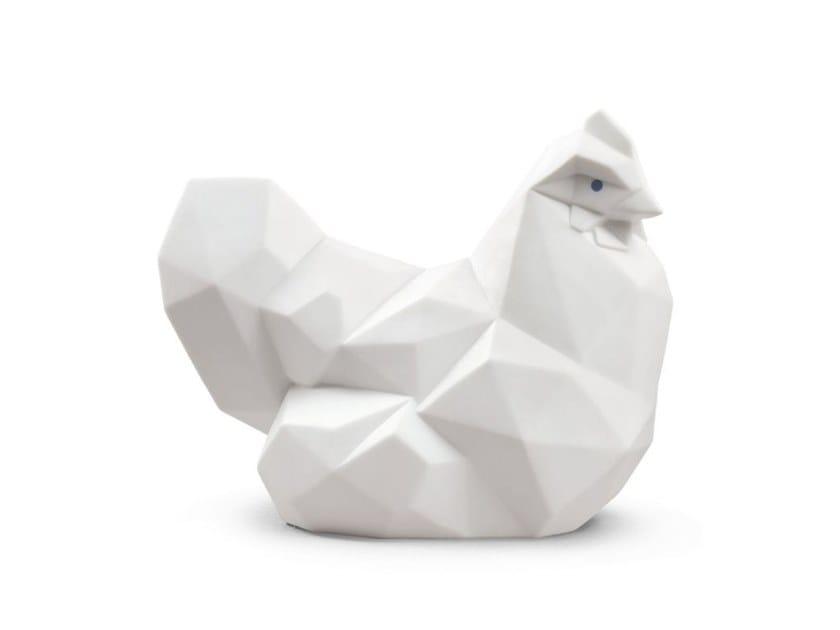 Porcelain decorative object HEN WHITE MATTE by Lladró