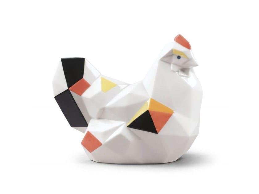 Porcelain decorative object HEN by Lladró