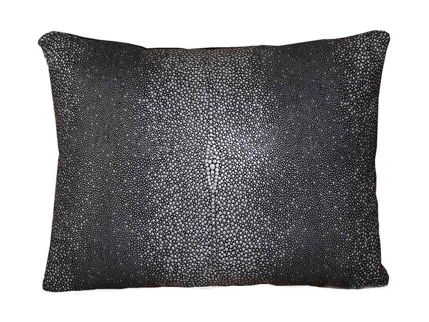 Leather cushion GALLUCHAT by Miyabi casa