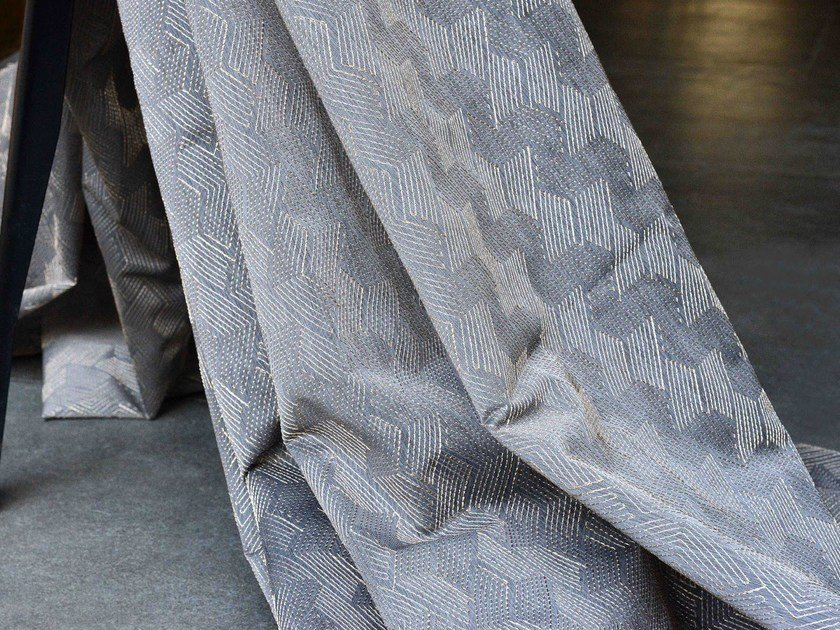 Fire retardant sheer polyester fabric GALON by LELIEVRE
