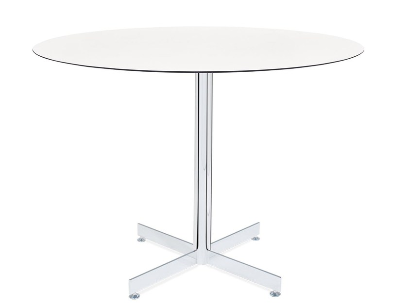 Metal table base with 4-spoke base GAMA by Papatya