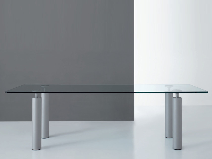 Glass table GAMBALUCA | Table by De Rosso
