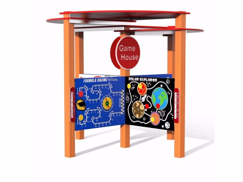 Polyethylene play panel GAMEHOUSE by Stileurbano