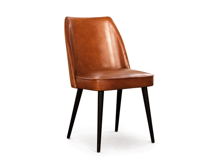 Upholstered leather chair GARBO by Oliver B.