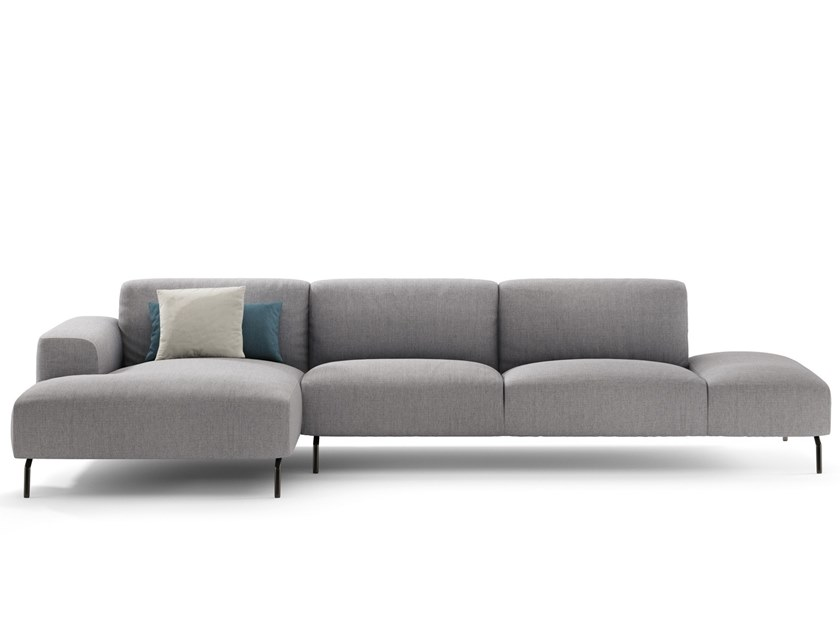 3 seater sofa with chaise longue GARDA | 3 seater sofa by NICOLINE