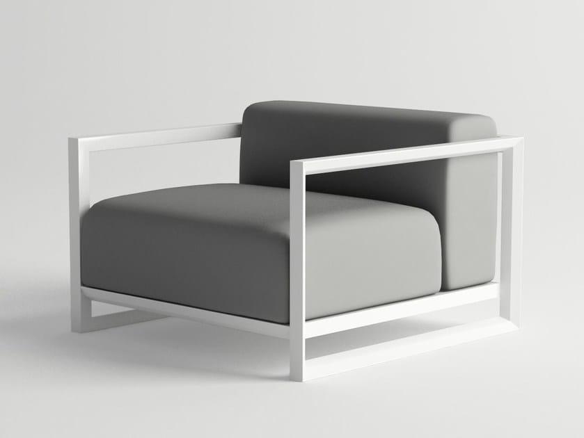 Aluminium garden armchair with armrests NUBES | Garden armchair by 10Deka