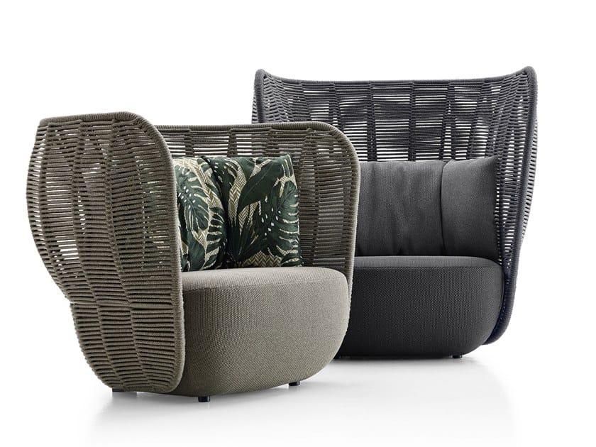 High-back garden armchair BAY | High-back garden armchair by B&B Italia Outdoor