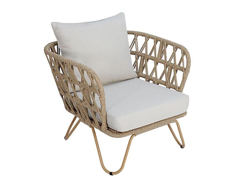 Synthetic fibre garden armchair with armrests RIO | Garden armchair by cbdesign