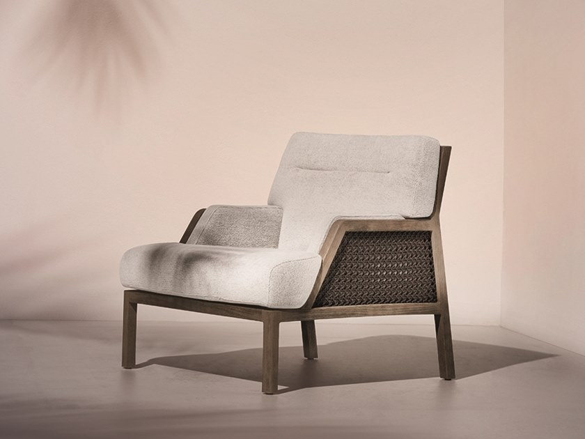Bergere garden armchair with armrests GRAND LIFE | Bergere garden armchair by Ethimo