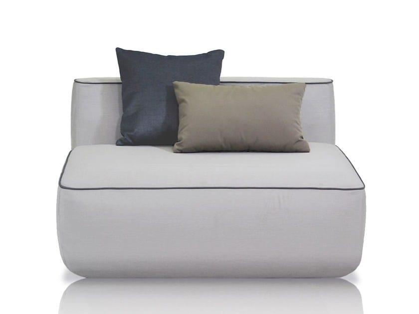 Upholstered fabric garden armchair PLUMP | Garden armchair by EXPORMIM