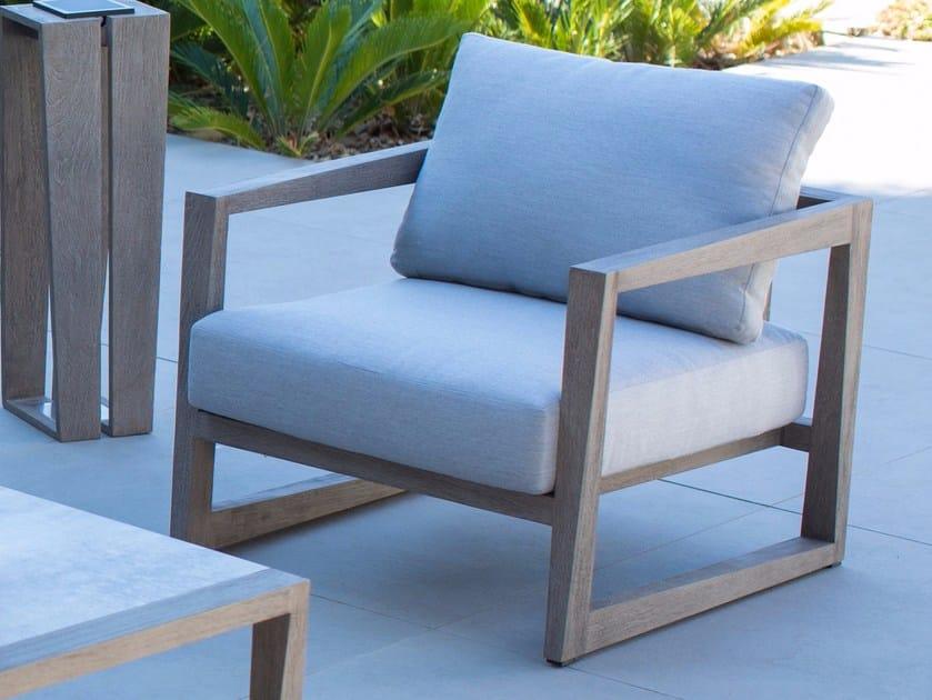 Garden armchair with armrests SKALEN | Garden armchair by Les jardins