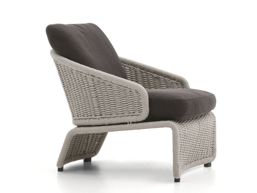 Outdoor armchair HALLEY OUTDOOR | Armchair by Minotti