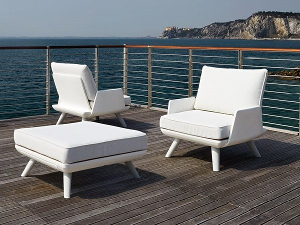 Fabric garden armchair with armrests SAMURAI | Garden armchair by Myyour