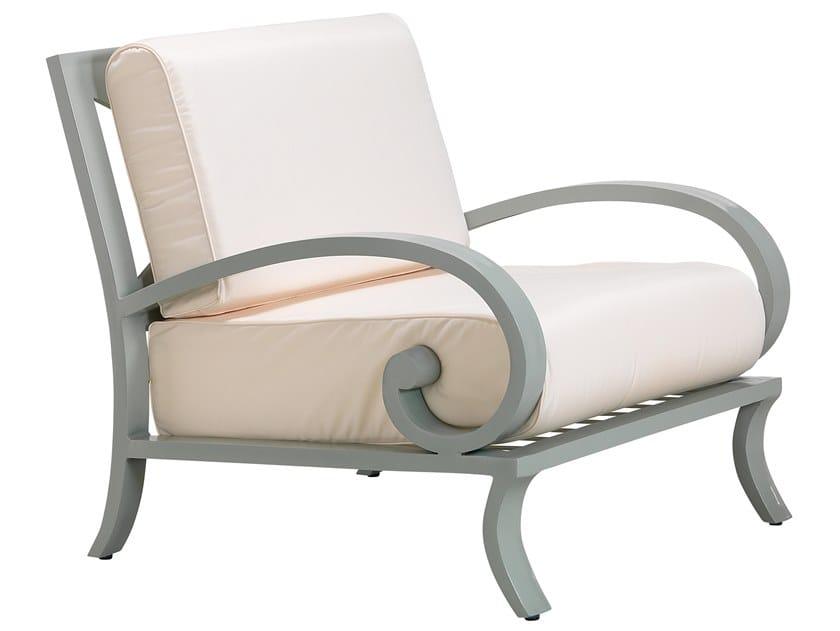 Aluminium garden armchair with armrests CENTURIAN | Garden armchair by Oxley's Furniture