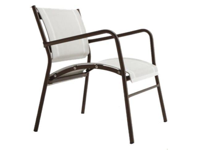 Stackable textilene garden armchair POLO | Garden armchair by RD Italia
