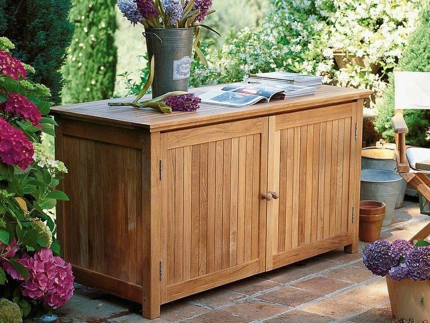 Teak garden cabinet / storage chest Teak storage chest by Unopiù
