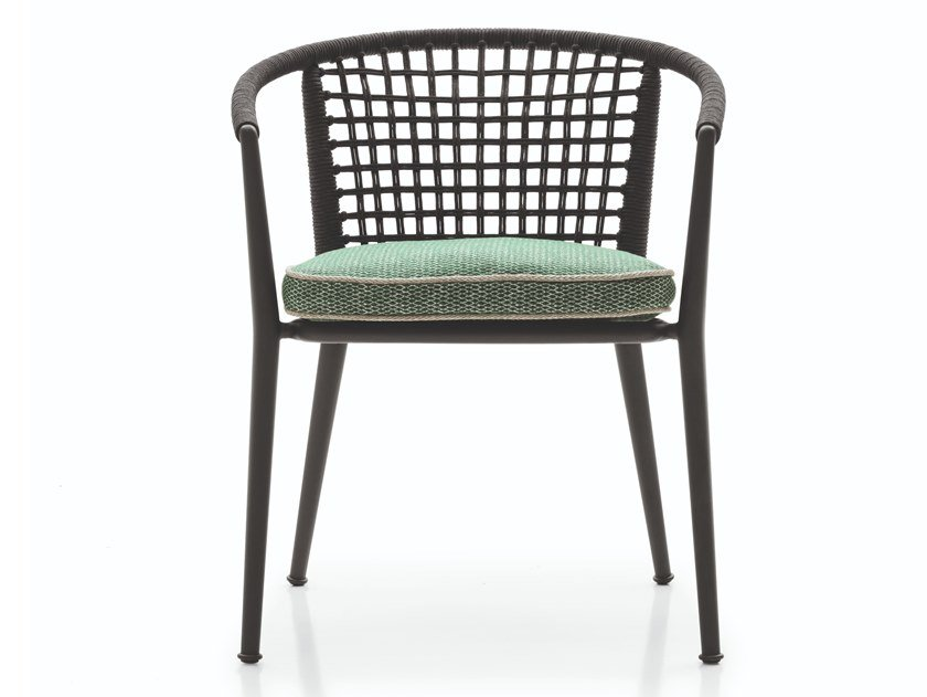 Stackable garden chair with armrests ERICA '19 | Garden chair by B&B Italia Outdoor