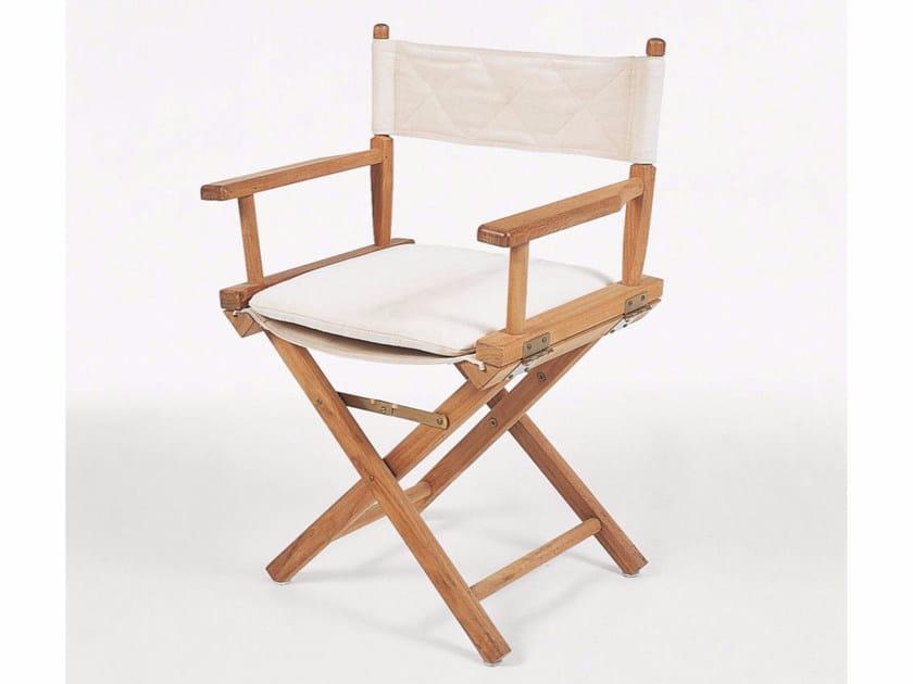 Folding garden chair with armrests GINGER | Garden chair by Unopiù
