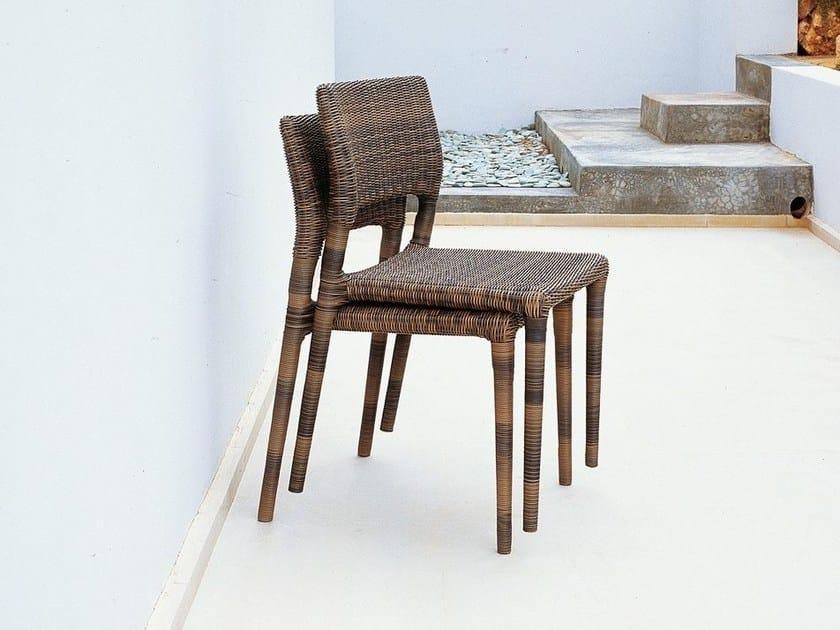 Synthetic fibre garden chair EDEN | Garden chair by Unopiù