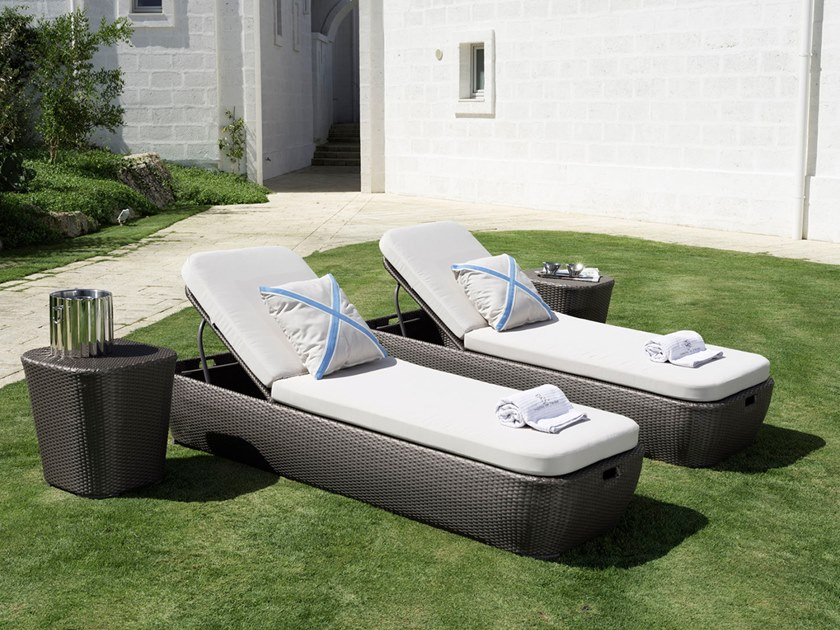 Recliner synthetic fibre garden daybed MOOD | Garden daybed by Braid