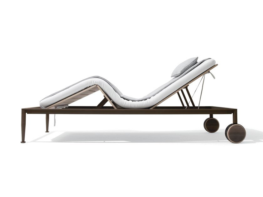 Recliner garden daybed with Casters GEA | Garden daybed by GIORGETTI