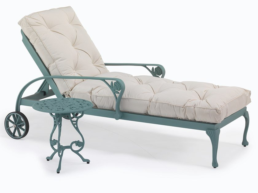 Recliner aluminium garden daybed with armrests BARRINGTON | Garden daybed by Oxley's Furniture