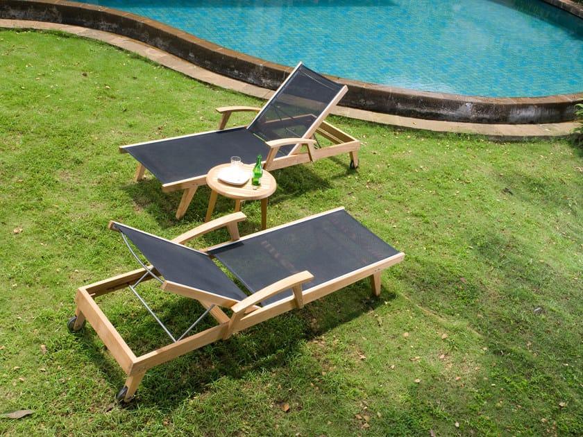 Lettino da giardino reclinabile in Batyline® PORTSEA | Lettino da giardino by 7OCEANS DESIGNS