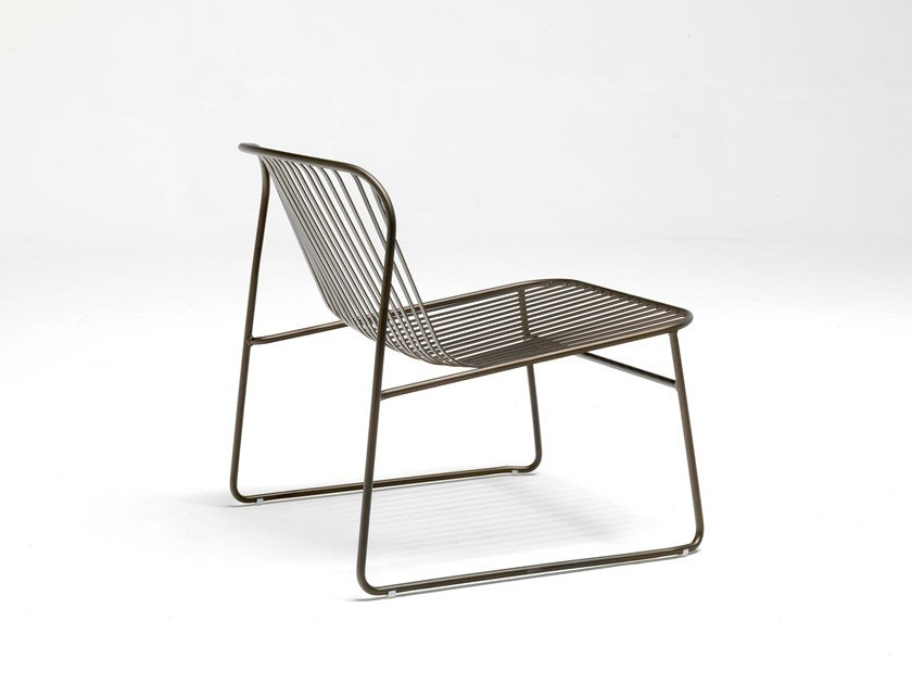 Garden steel easy chair RIVIERA by emu