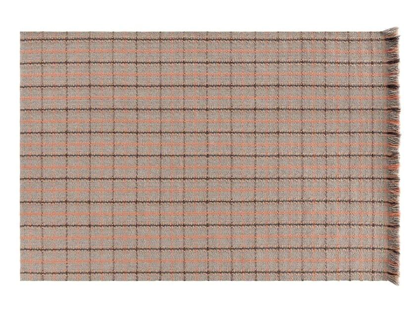 Rectangular polypropylene outdoor rugs with geometric shapes GARDEN LAYERS TERRACOTTA | Rectangular rug by GAN